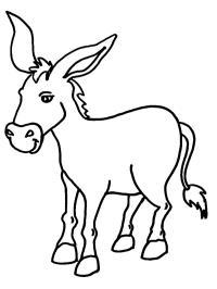 Ausmalbild esel 39 Esel
