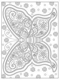 Ausmalen schmetterling zum mandala 38 Ausmalbilder