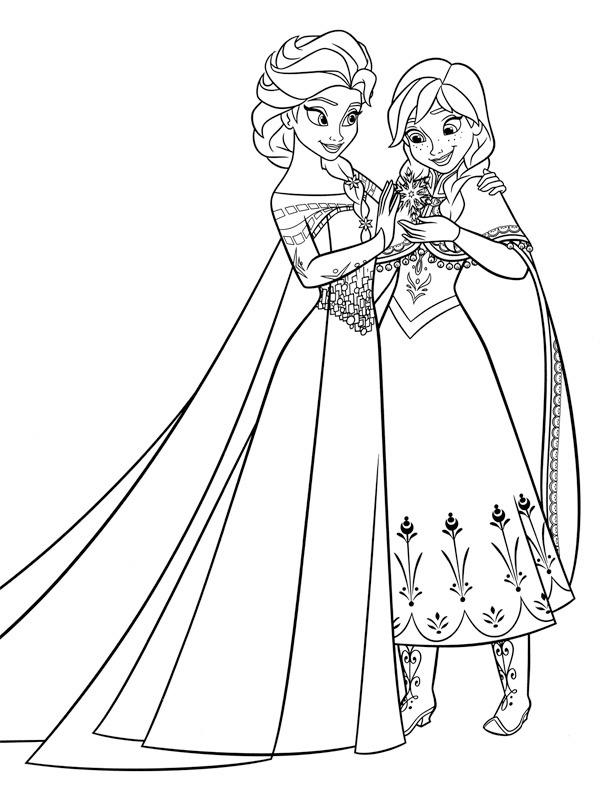 Ausmalbilder Elza Und Anna Besteausmalbilder De