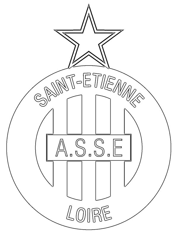 Ausmalbild AS Saint-�tienne