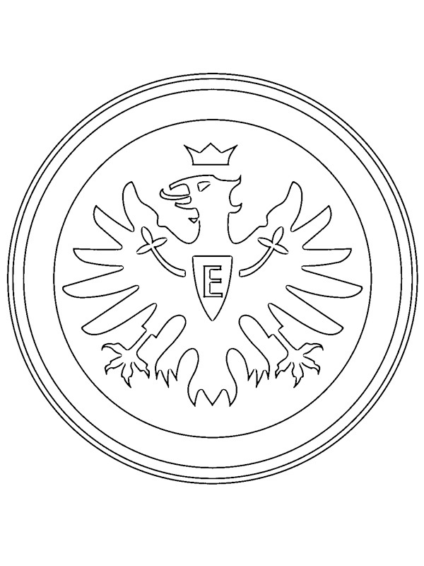 Ausmalbilder Eintracht Frankfurt Besteausmalbilder De