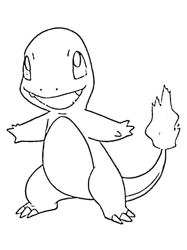 pokemon ausmalbild glumanda  ausmalbilder bisasam