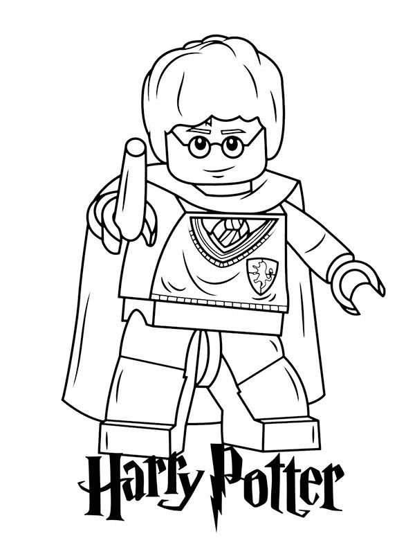 Ausmalbild Lego Harry potter