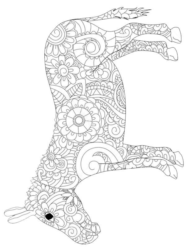 einhorn ausmalbilder mandala  pferde und einhorner