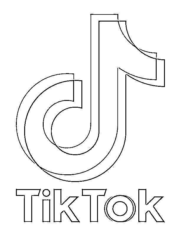 Tiktok Logo Schwarz Weiß - Tiktok, logo, schwarz symbol in ...