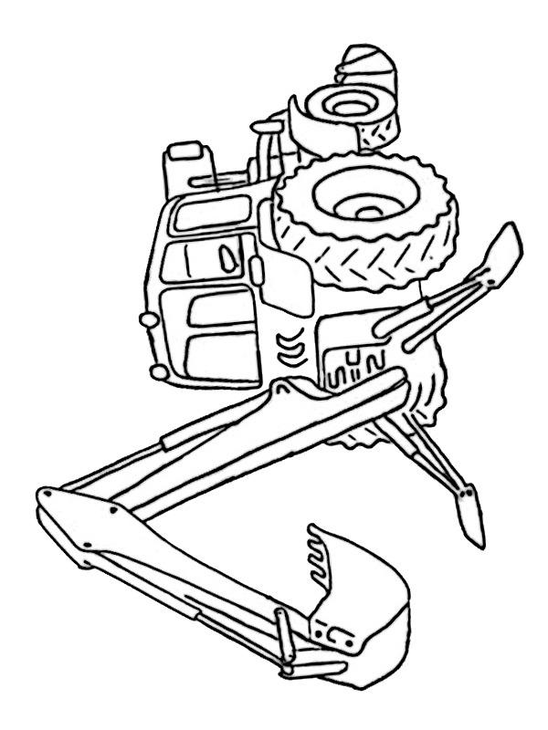 Ausmalbilder Traktor Bagger Besteausmalbilder De