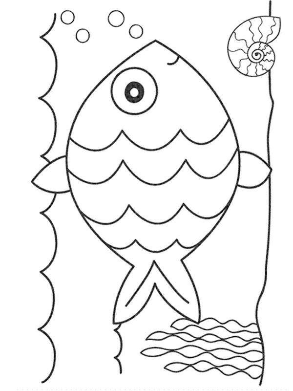 Ausmalbilder Fisch Im Wasser Besteausmalbilder De